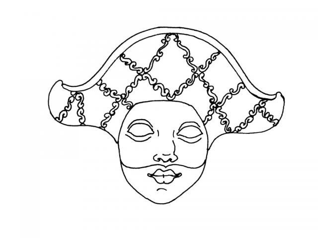 Coloriage arlequin en ligne - Masque de carnaval de venise a imprimer ...