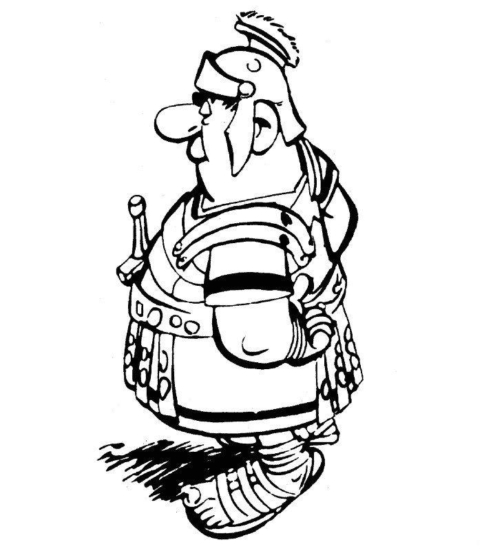 dessin à colorier gratuit asterix le gaulois