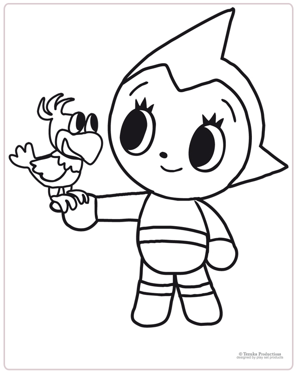 dessin à colorier astro boy à imprimer