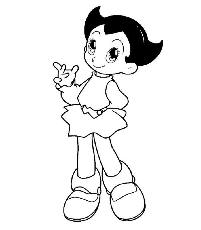 coloriage à dessiner astro boy le film