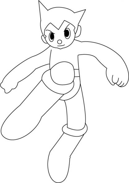 dessin à colorier en ligne astro boy