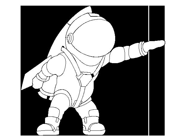 coloriage d'un astronaute