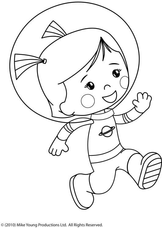 dessin mickey astronaute