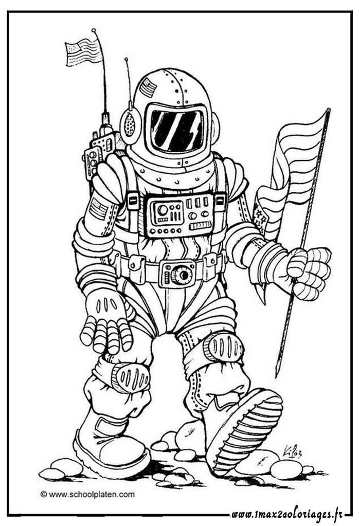 dessin à colorier astronaute imprimer