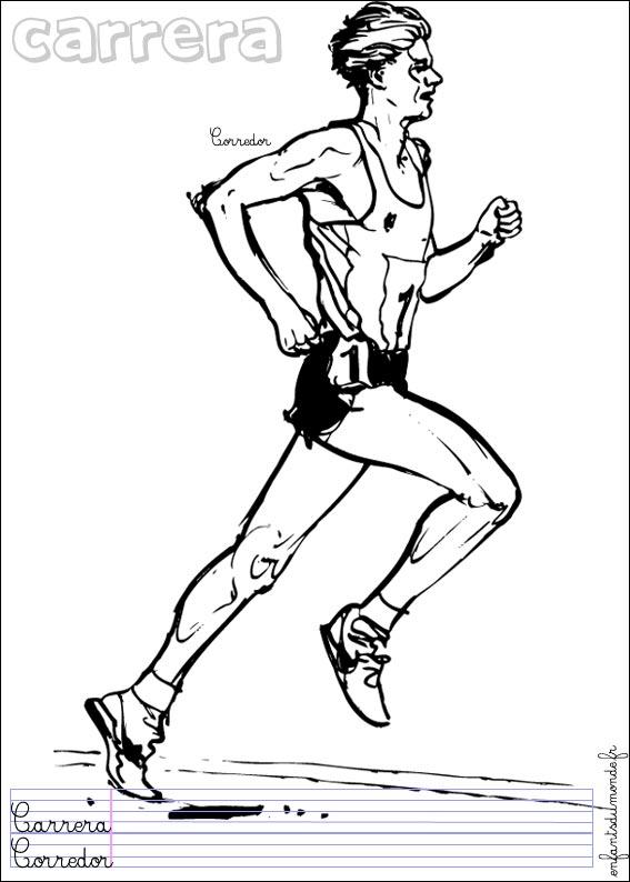 18 dessins de coloriage athletisme imprimer - Dessin de course a pied ...