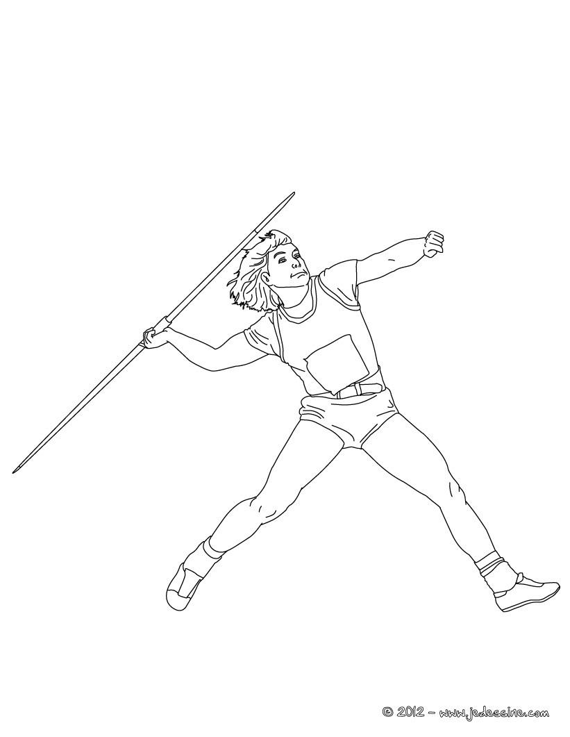 coloriage à dessiner de sport athlétisme