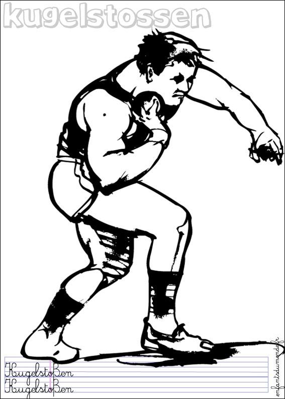 dessin à colorier athlétisme gratuit