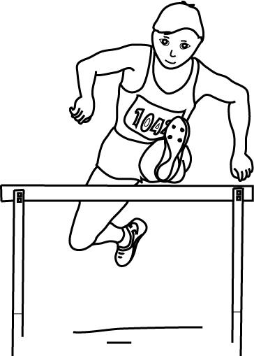dessin à colorier athlétisme imprimer