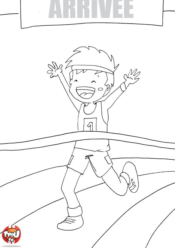 dessin à colorier de l'athlétisme