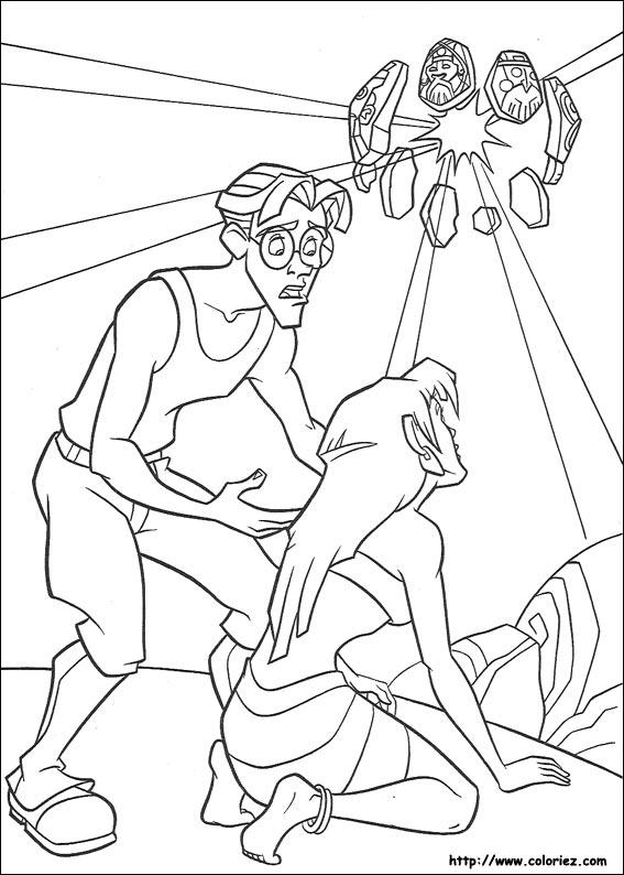 coloriage dessin anim� atlantide