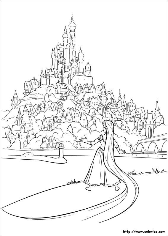 142 dessins de coloriage au royaume des singes imprimer - Chateau disney coloriage ...