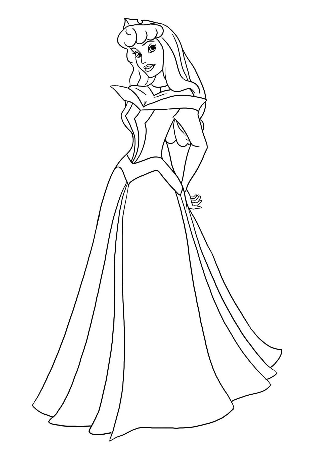 dessin princesse aurore dessin à colorier