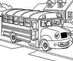 dessin à colorier a imprimer autobus scolaire