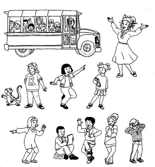 dessin à colorier d'autobus