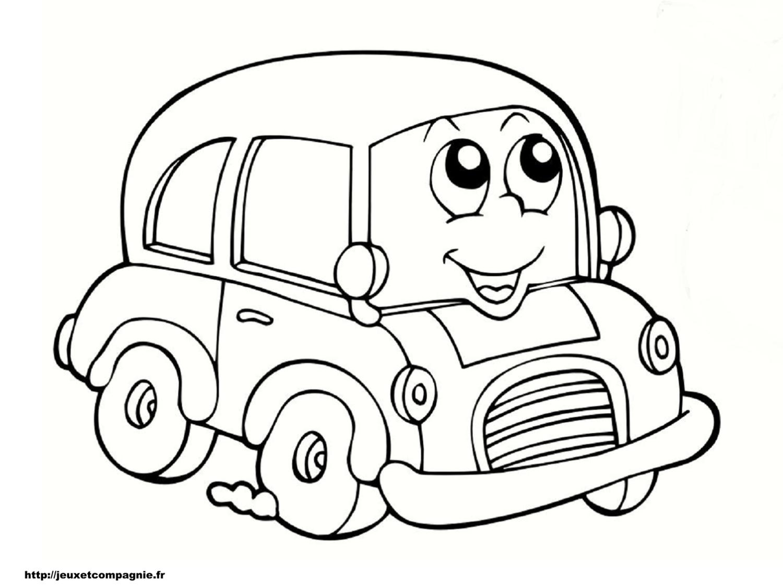 coloriage de bus anglais a imprimer