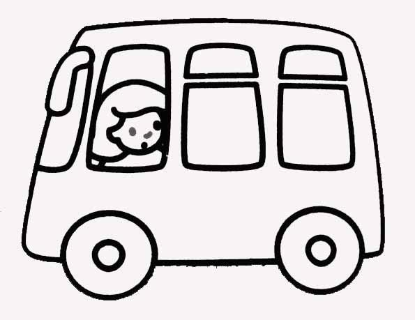 coloriage à dessiner de bus à imprimer