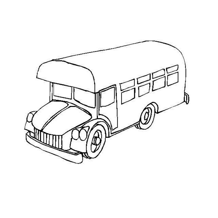 dessin à colorier bus avec chauffeur