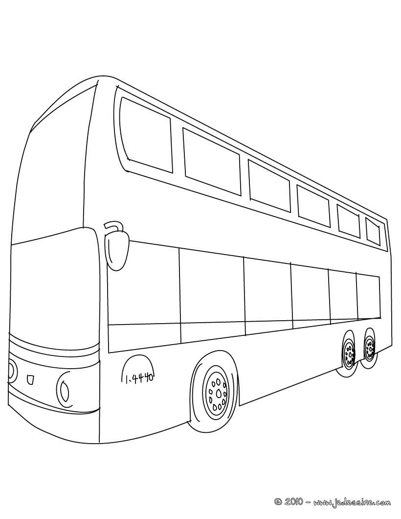 coloriage à dessiner de bus de ville