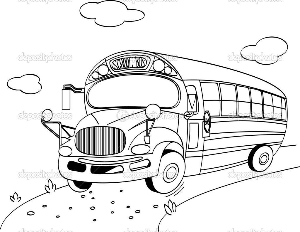dessin à colorier bus anglais