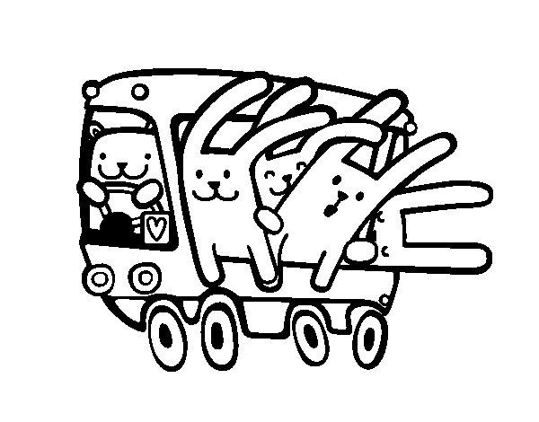 coloriage à dessiner bus gratuit