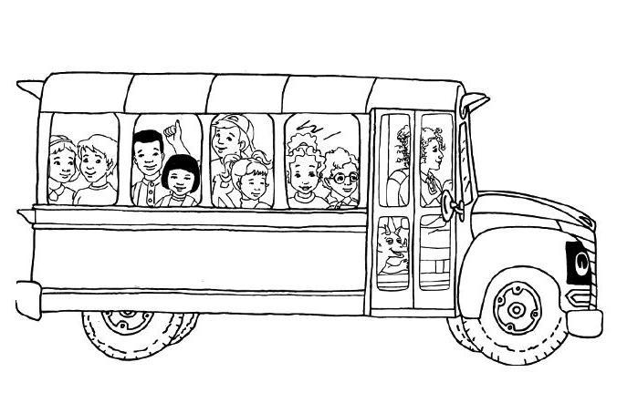coloriage à dessiner du bus magique