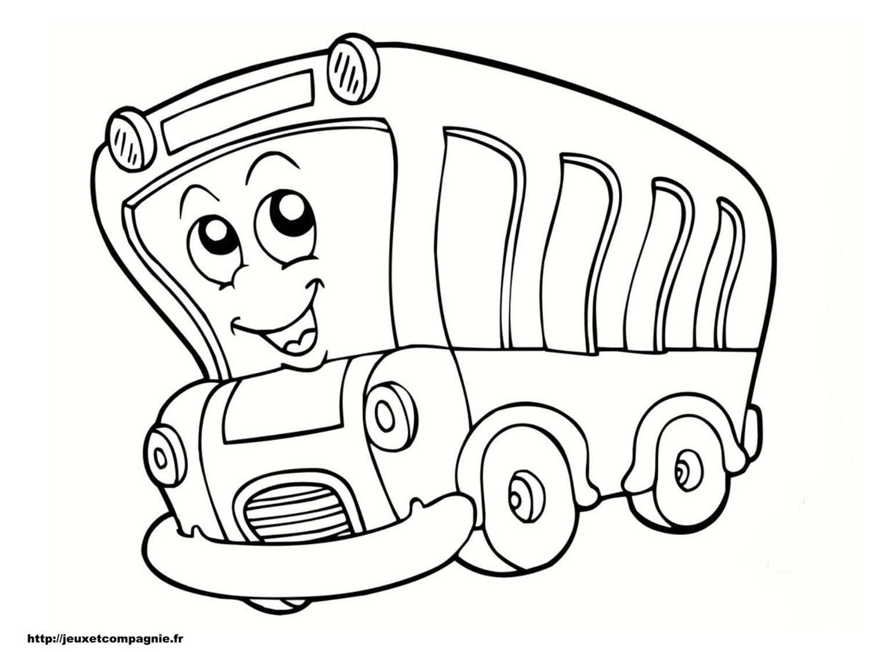 coloriage à dessiner de bus anglais a imprimer