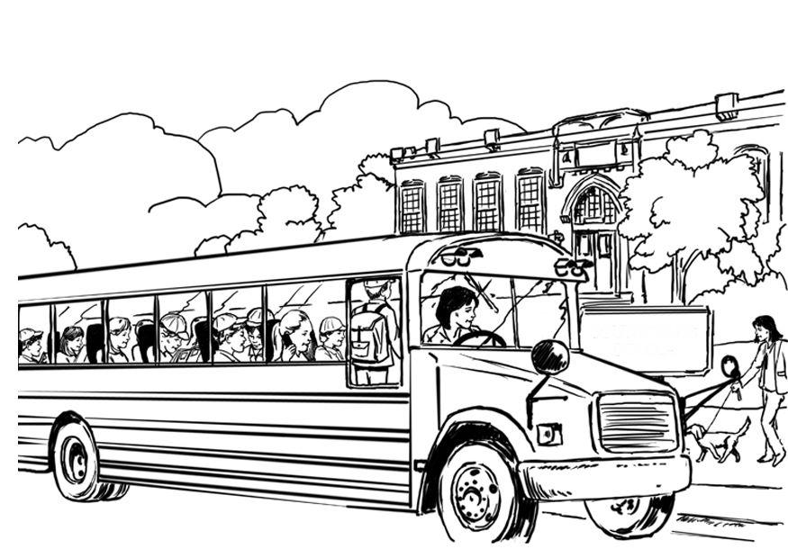 coloriage à dessiner bus vw