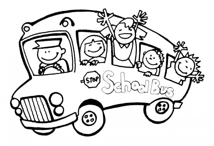 dessin à colorier le bus magique