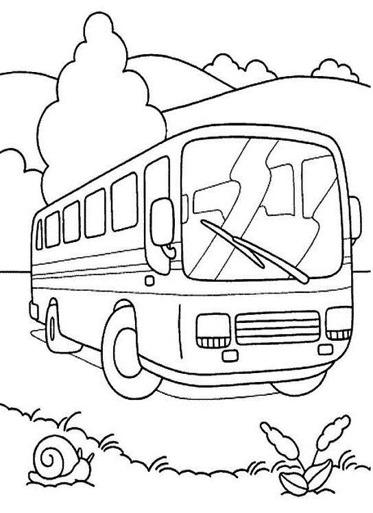dessin � colorier de bus anglais a imprimer