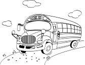 dessin chat bus