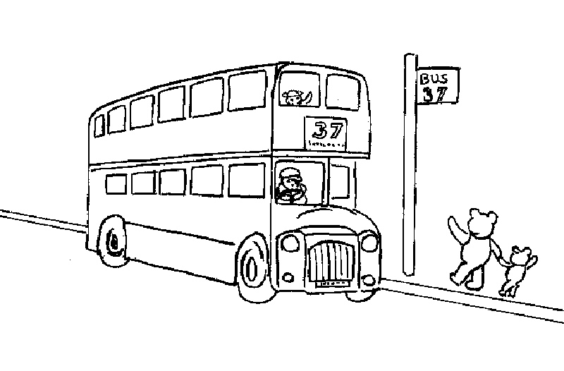 dessin bus londres