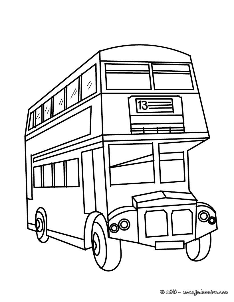 coloriage à dessiner bus tec