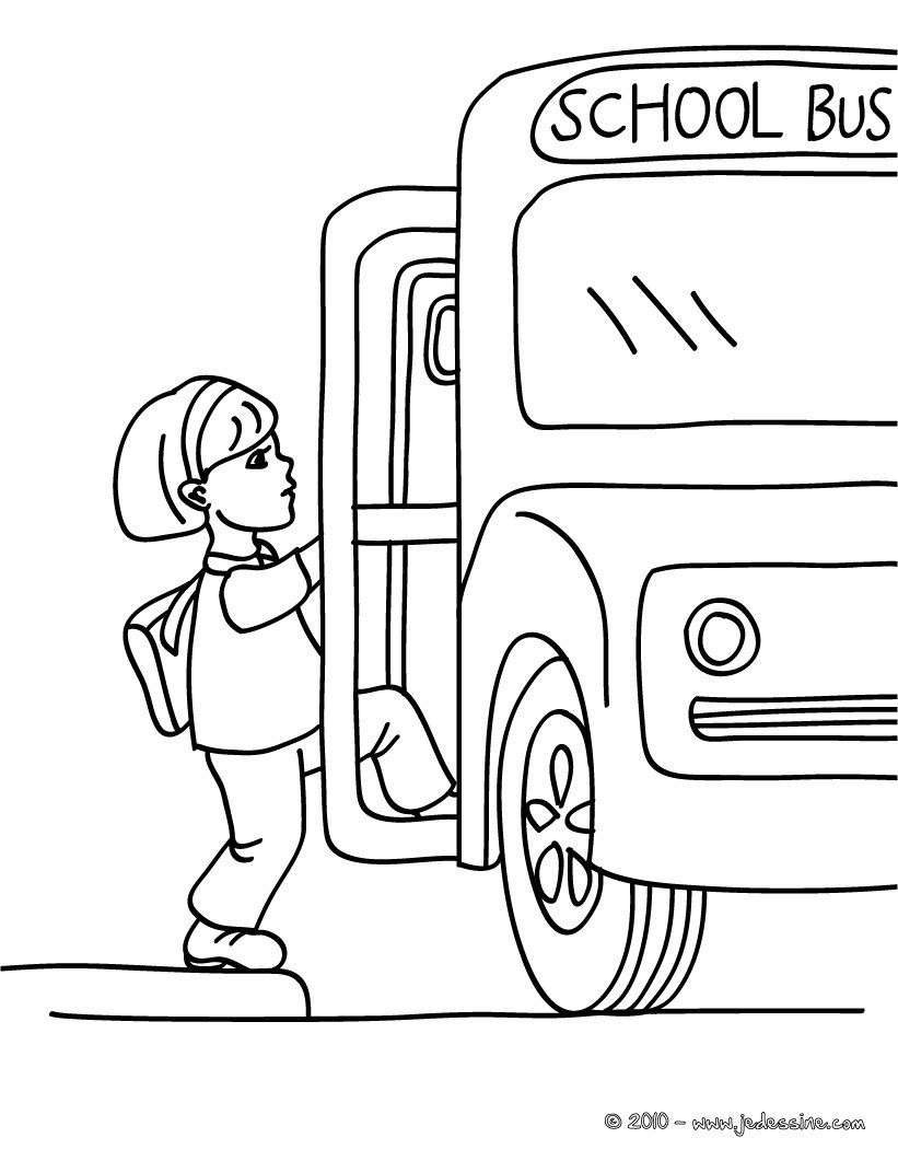 coloriage à imprimer autobus