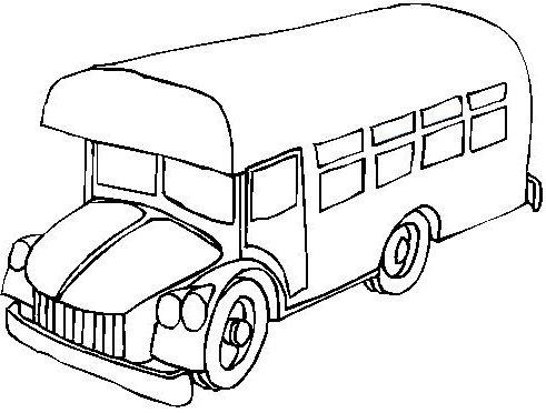 dessin à colorier bus de londre