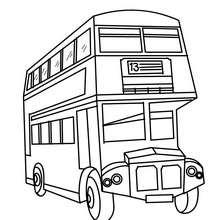dessin à colorier autobus en ligne