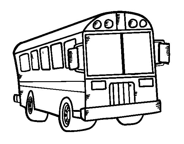 coloriage bus anglais