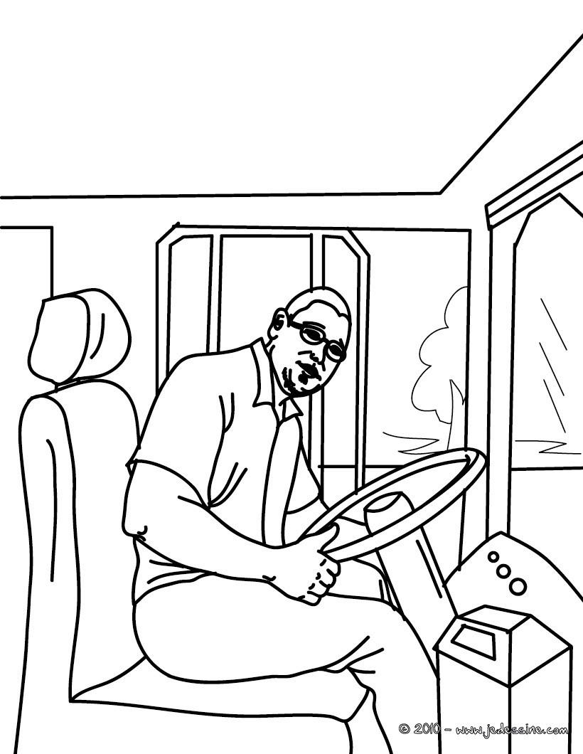 dessin bus à imprimer