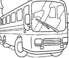 coloriage à dessiner autobus à imprimer