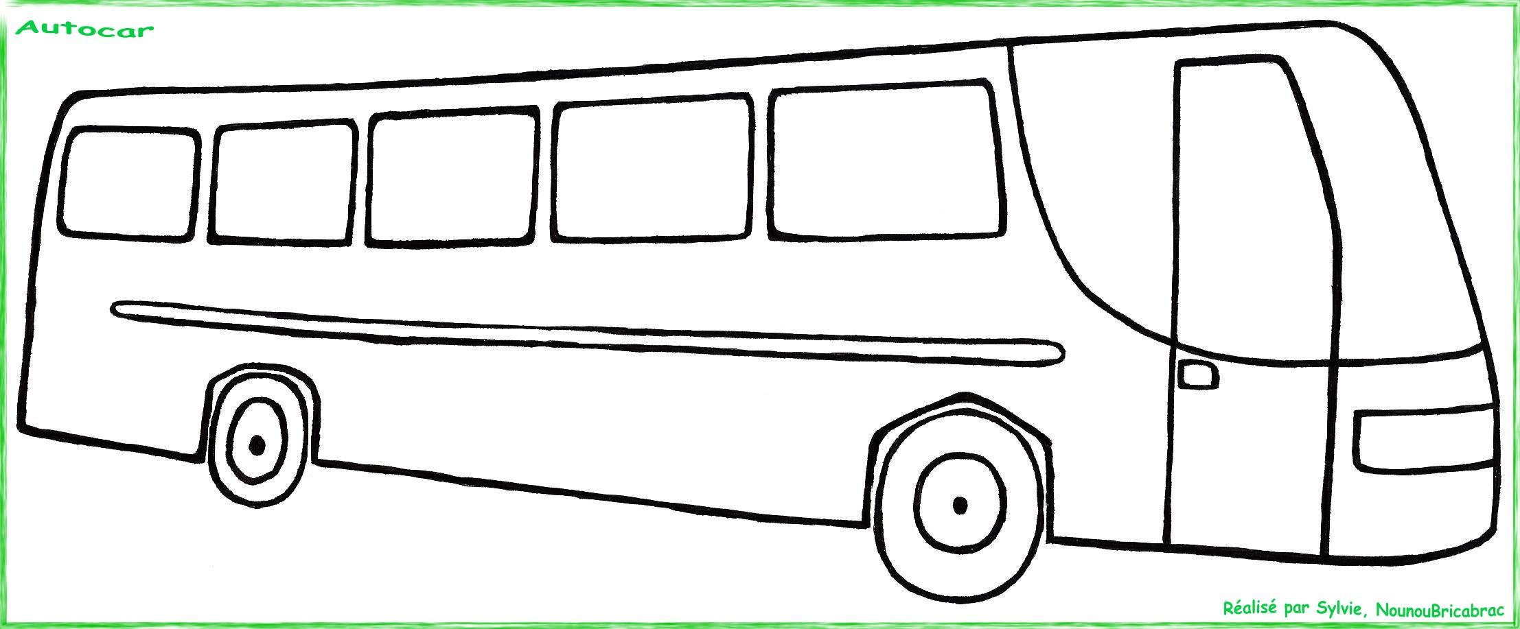 dessin à colorier autocar