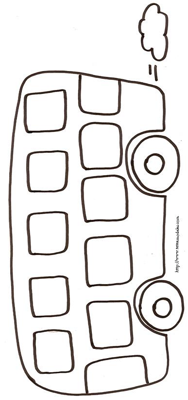 coloriage à dessiner autocar imprimer