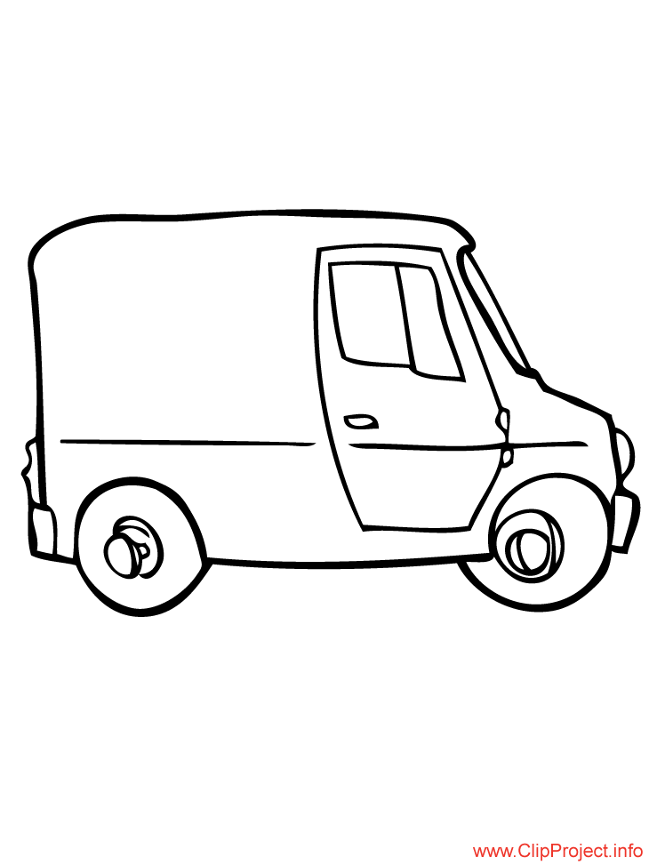 coloriage à dessiner bus en ligne