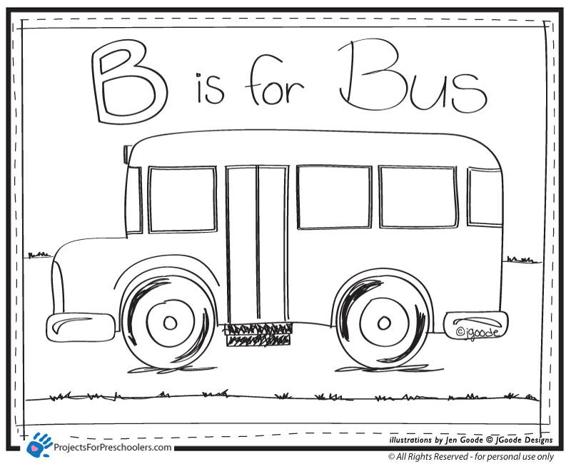 dessin à colorier autobus imprimer