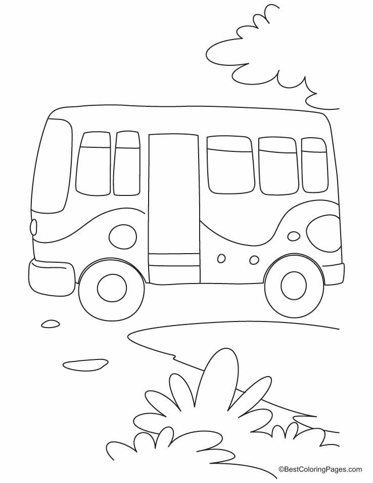 dessin à colorier bus en ligne