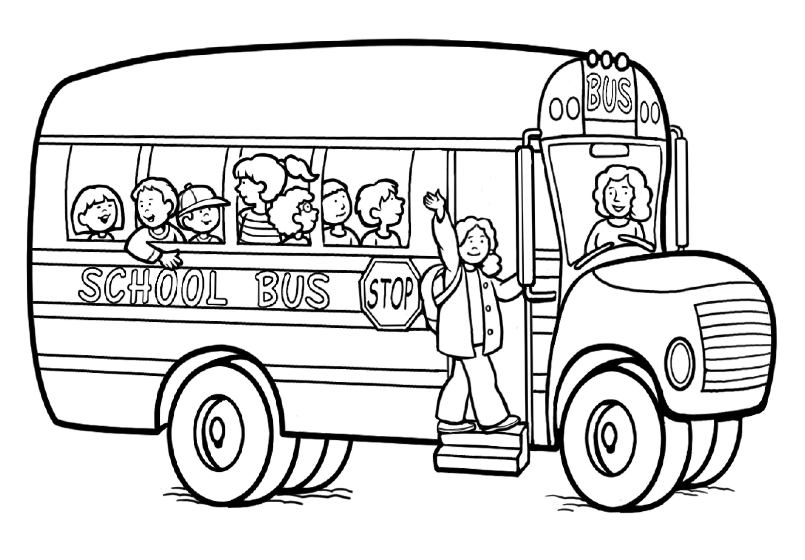 dessin à colorier gratuit autobus