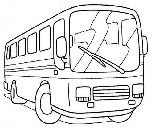 coloriage à dessiner autocar