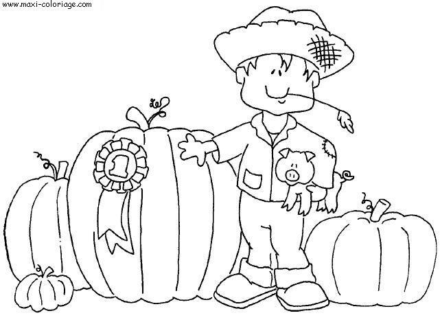 dessin à colorier d'automne hugo l'escargot