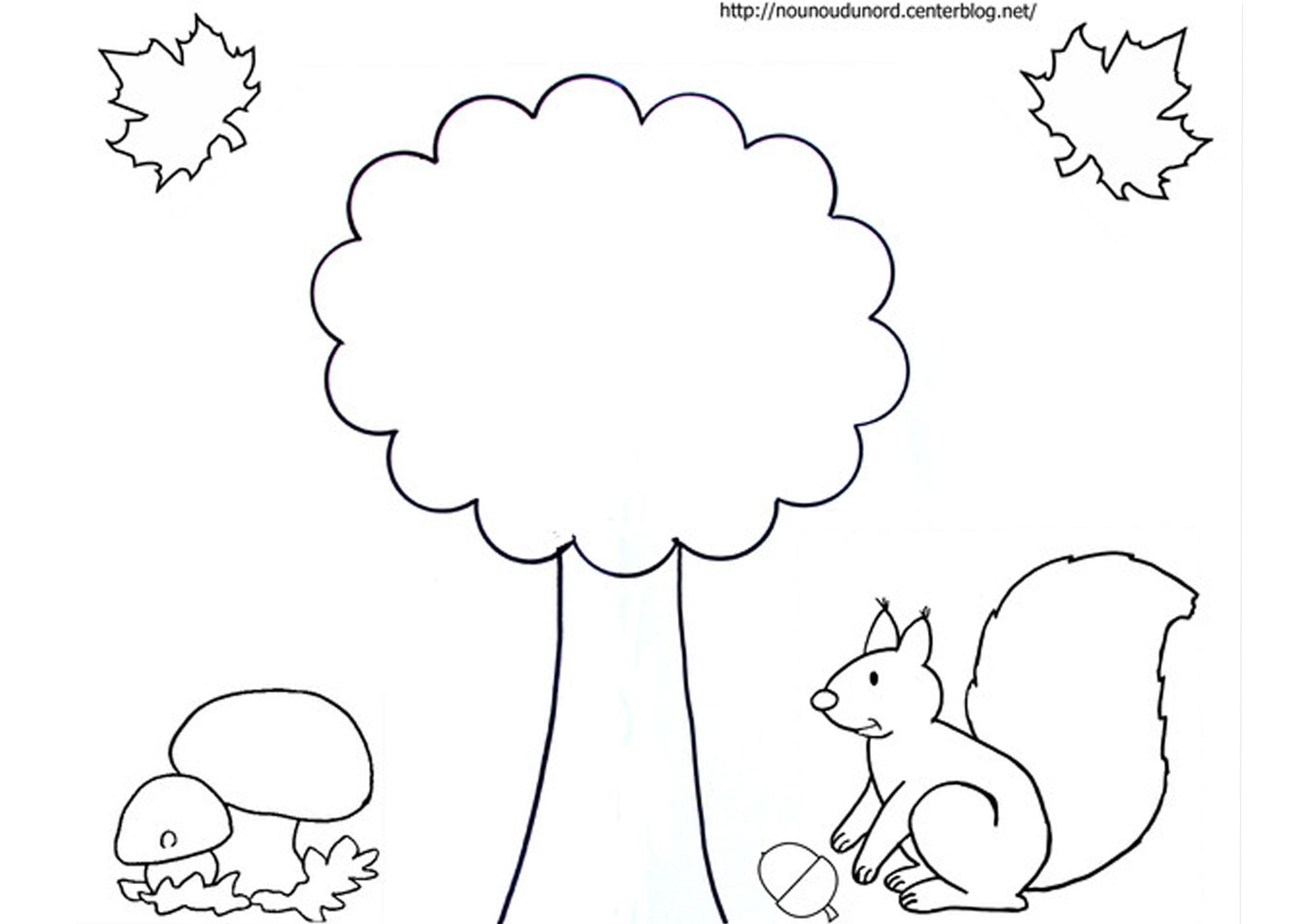 coloriage à dessiner automne gratuit