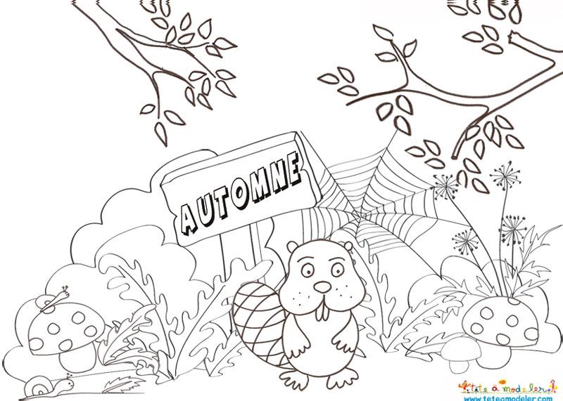 dessin à colorier automne ce1