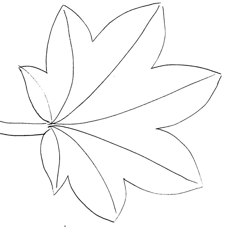 coloriage à dessiner d'automne pour maternelle