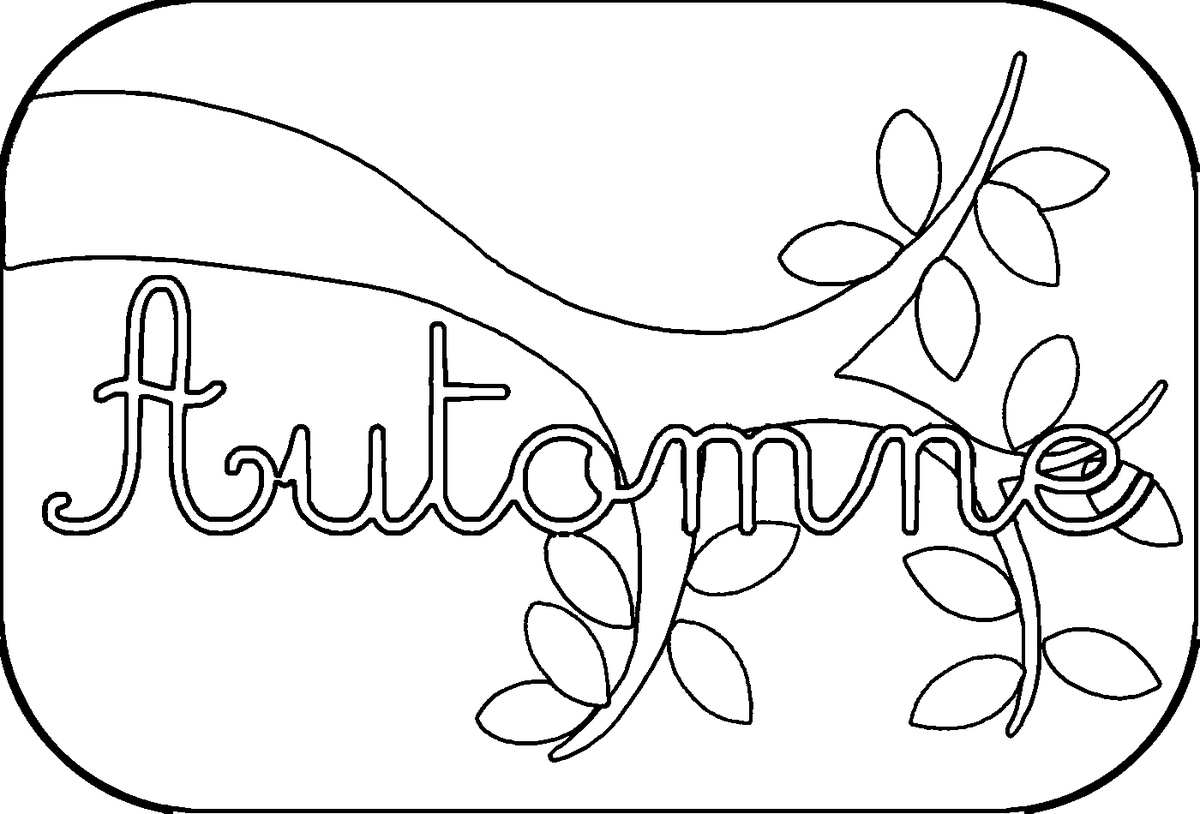 dessin à colorier magique automne cp